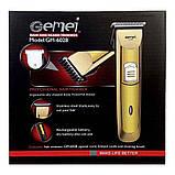 Аккумуляторная машинка для стрижки волос GEMEI GM-6028, фото 4