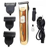 Аккумуляторная машинка для стрижки волос GEMEI GM-6028, фото 5