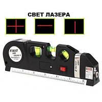 Лазерний рівень (3 варіанти) + рулетка FIXIT LASER LEVEL PRO 3, фото 1