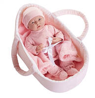 Кукла младенец девочка в люльке, Berenguer Boutique, 39 см