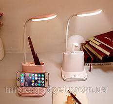 Настольная лампа Multifunctional DESK LAMP с держателем для телефона и USB, фото 2
