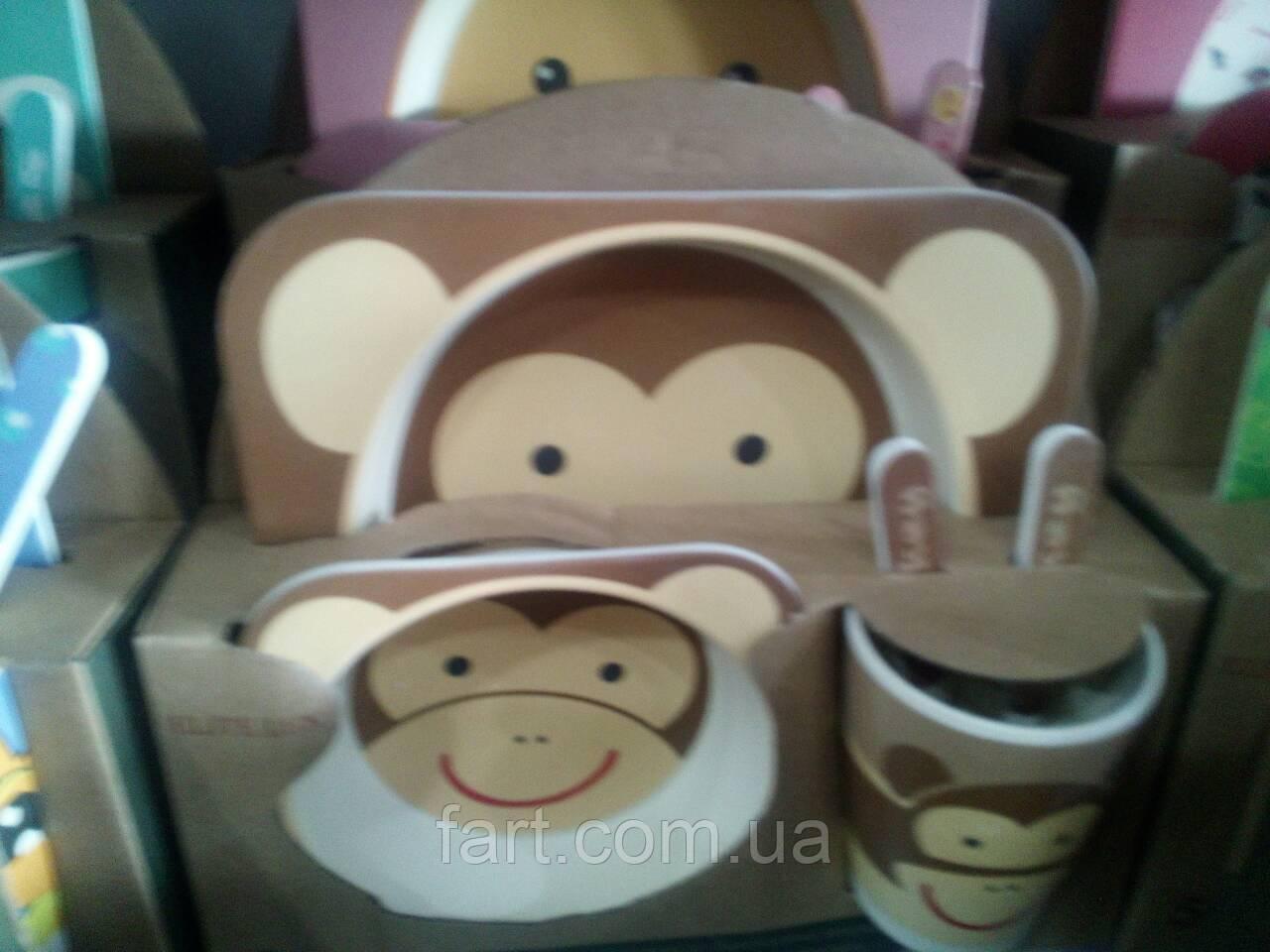 Набор детской посуды из бамбукового волокна Bamboo Fibre kids