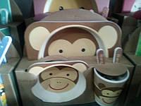 Набор детской посуды из бамбукового волокна Bamboo Fibre kids, фото 1