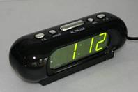 Часы сетевые VST 716-2 зеленые настольные сетевые, фото 1