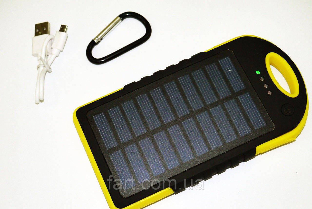 Solar Powerbank карабин+LED