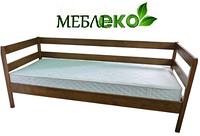 """Кровать  детская  простая из натурального дерева. Модель """"Икея №2"""" ."""