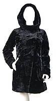 Шуба из мутона с капюшоном Z-1530-1, фото 1