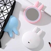 Зеркало макияжное для путешествий со светодиодной подсветкой Rabbit Makeup Mirror