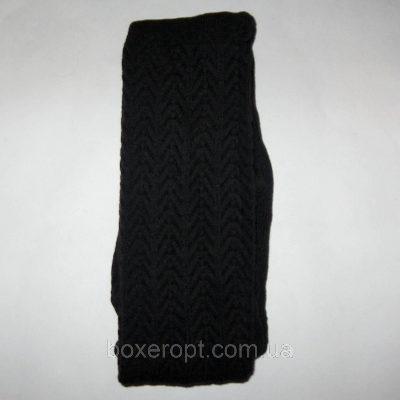 Колготки женские вязаные узорчатые (черные)