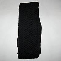 Колготки женские вязаные узорчатые (черные), фото 1