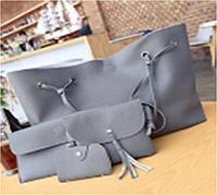Набор женских сумок LADY BAG 2B Темно-серая