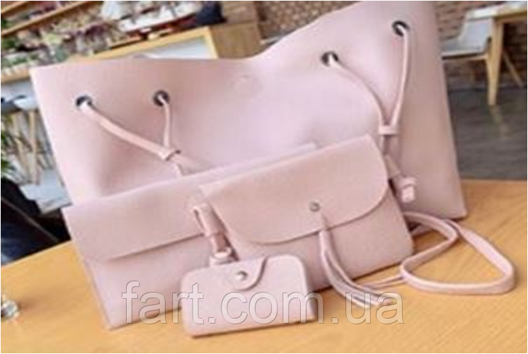 Набор женских сумок LADY BAG 2B Пудровый