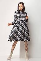"""Повседневное брендовое платье TM Garne """"Arina"""" в клетку с широкой юбкой (6 расцветок, р.S-5XL)"""