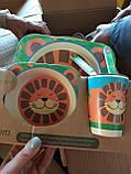 Детский набор посуды из бамбукового волокна 5 предметов, фото 3