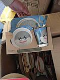 Детский набор посуды из бамбукового волокна 5 предметов, фото 6