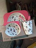 Детский набор посуды из бамбукового волокна 5 предметов, фото 8