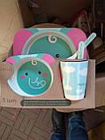 Детский набор посуды из бамбукового волокна 5 предметов, фото 9