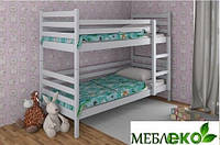 """Кровать детская двухъярусная из натурального дерева (массив). Модель """"Шрек""""."""