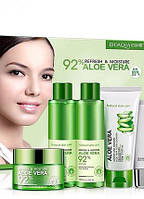 Подарочный набор с алое вера Bioaqua Aloe Vera 92% Refresh & Moisture (5 предметов)