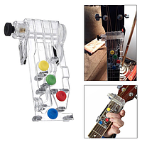 Кнопочный аккорд для гитары! Аксессуар для обучения игре на гитаре , в виде цветных клавиш!, фото 1