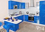 Дизайнерская кухня под заказ синяя прованс изготовление по индивидуальным размерам, фото 7