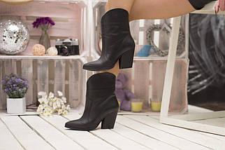Стильные широкие ботинки демисезонные на каблуке 36-40 р, фото 3