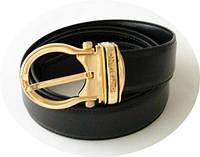 Ремень Montblanc черный кожаный