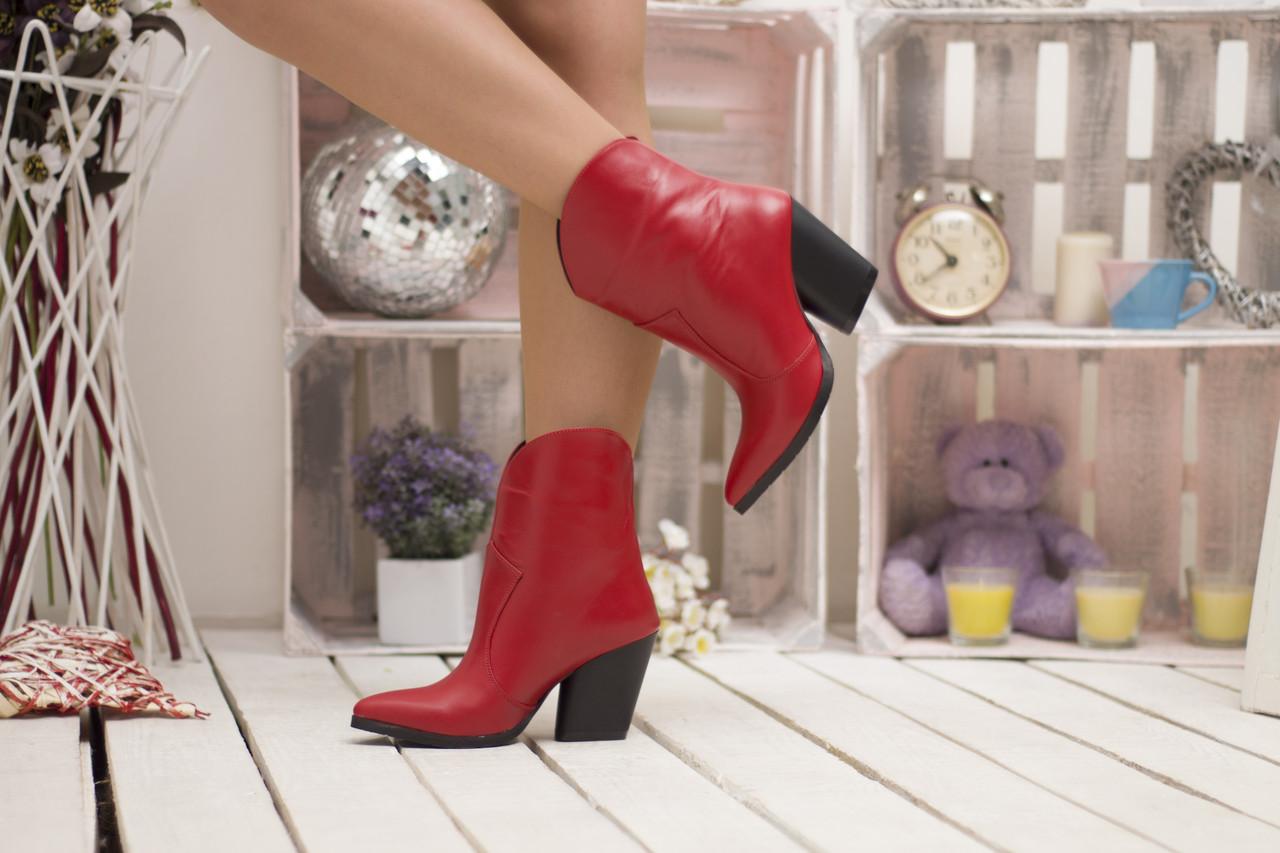 Стильные широкие ботинки демисезонные на каблуке 36-40 р
