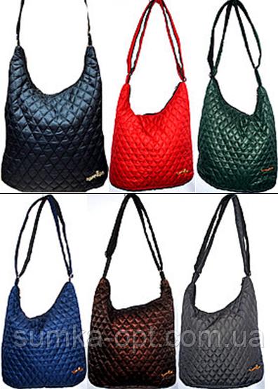 Женские стеганные сумки на плечо (6 цветов)28*27см