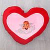 Подушка декоративная большое красное сердце, фото 2