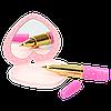 Top Model записна книжка із дзеркальцем та ручкою у формі губної помади (Top Model Канцелярия с зеркалом), фото 2