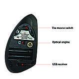 Мышь беспроводная Cliry вертикальная эргономичная (1600 DPI) USB 2.4 G wireless, Black, фото 5