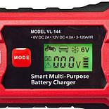 Автомобильное Зарядное устройство для аккумулятора VOIN  6-12V /2.0-6.0A/3-150AHR Импульсное, фото 4