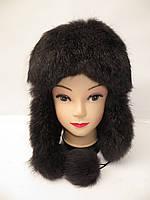 Модная женская шапка ушанка