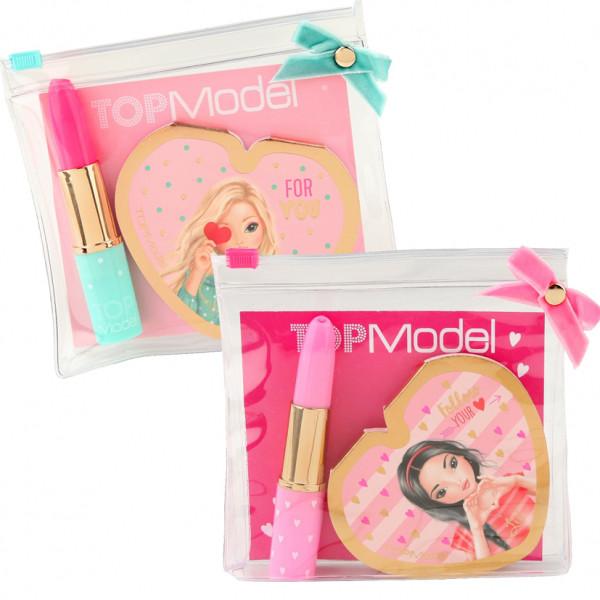 Top Model записна книжка із дзеркальцем та ручкою у формі губної помади (Top Model Канцелярия с зеркалом)