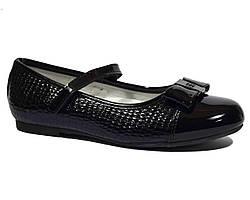 Черные лаковые туфли Biki для девочки подростка 33-36 р