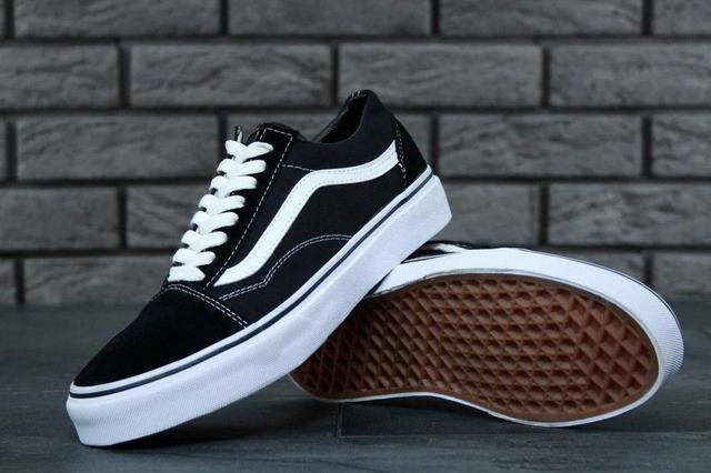 Vans Old Skool Shark Black White