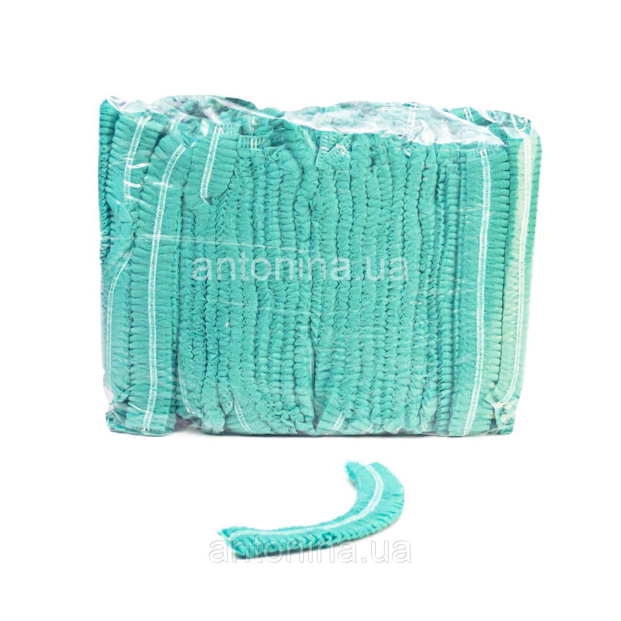 Шапочки зелені медичні одноразові «Шарлотта»