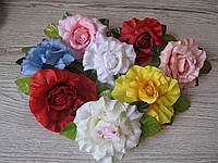 Розы из ткани (головка без листьев) - 9 см