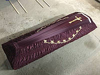 Гроб - драпировка шёлк (бордовый)