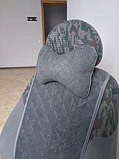 Накидки на сиденья авто из АЛЬКАНТАРЫ (искусственной замши). Серые. 2 передних, фото 3