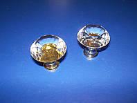 Ручка стекло ромбик средняя, фото 1