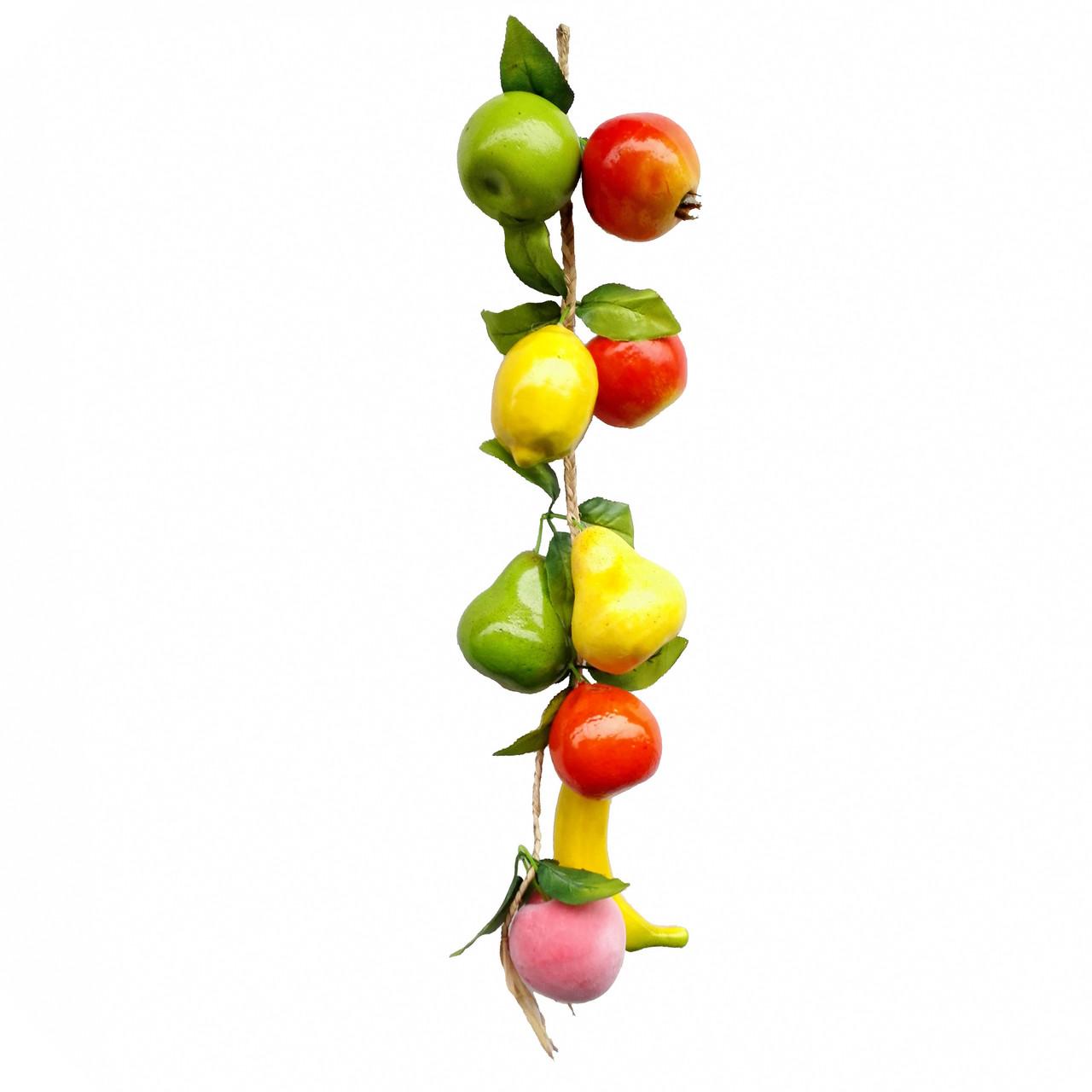 Связка с муляжами фруктов  80 см