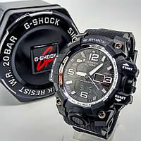 Ударопрочные, влагозащищенные, спортивные наручные часы Casio G-Shock черного цвета хром