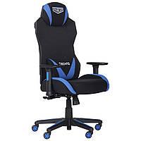 Геймерское кресло VR Racer Techno Soul черный/синий, TM AMF