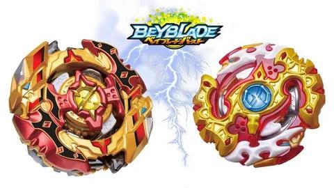 НаборБейблейдBeyblade 2 в 1: Чо-Зет Спрайзен С5 В-128 + Спрайзен Реквием С4 В-100 с пускателями