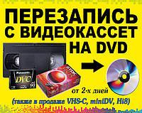 Перезапись с видеокассет на диски