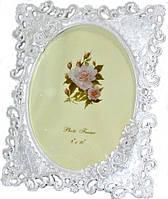Фоторамка белая ажурная с розочками и стразами Прованс 31х25 см