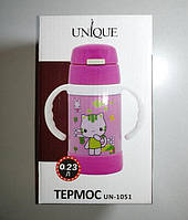 Термос детский Unique UN-1051 0.23л розовый, фото 1