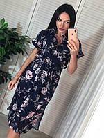 """Платье-рубашка женское с цветочным принтом, размер S-M (3цв)""""MARGARET"""" купить недорого от прямого поставщика, фото 1"""